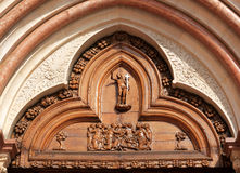 Entrata (sinistra) di San Francesco, Assissi, Italia Fotografia Stock Libera da Diritti