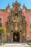 Entrata a storia del museo di Madrid Fotografia Stock