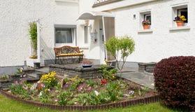 Entrata tedesca rurale della casa Immagine Stock Libera da Diritti
