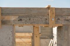 Entrata in una casa della costruzione Fotografia Stock Libera da Diritti