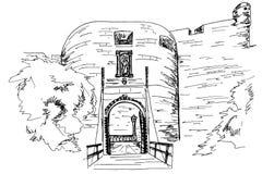Entrata in vecchia città di Ragusa La Croazia royalty illustrazione gratis