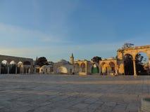 Entrate di pietra della moschea di Al-Aqsa, Gerusalemme Immagine Stock