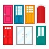 Entrate principali Colourful alle case ed alle costruzioni Royalty Illustrazione gratis