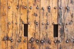 Entrate principali di legno antiche Fotografia Stock Libera da Diritti