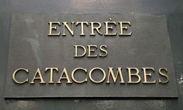 Entrée aux catacombes Images libres de droits