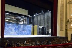 Entre bastidores del teatro de la ópera de Viena Foto de archivo libre de regalías