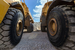 Entre de grandes roues Image stock
