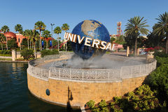 Entrée de studios universels à Orlando, la Floride Image libre de droits