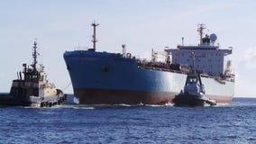 Entre do petroleiro Imagens de Stock
