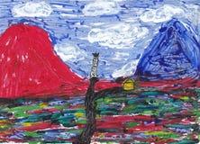 Entre dos montañas y x28; mirror& x29 de la visión; Fotos de archivo libres de regalías