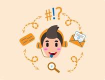 Entre en contacto con nos o a los niños del icono del operador libre illustration