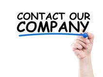 Entre en contacto con a nuestra compañía imagen de archivo libre de regalías