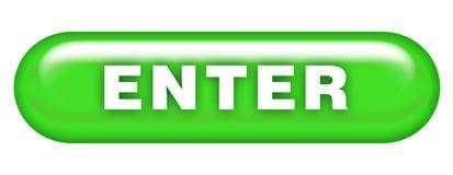 Entre en el bot?n Ejemplo, datos Símbolo del icono del diseño web stock de ilustración