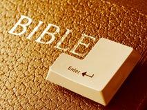 Entre en la biblia Imagen de archivo libre de regalías