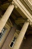 Entrée à la construction d'université Images libres de droits