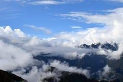 Entre las nubes Stock Images