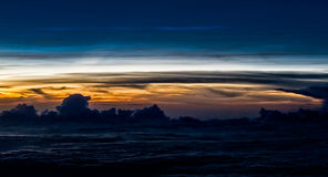 Entre les nuages Image libre de droits