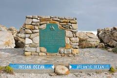 Entre les océans atlantiques et indiens. Photo stock