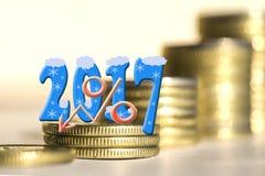 2017 entre moedas das barras Foto de Stock Royalty Free