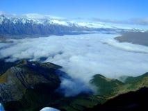 Entre a nuvem Imagem de Stock