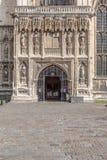 Entrée principale à la cathédrale de Cantorbéry, Kent, Angleterre Images libres de droits