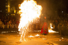 Entre Terre et Ciel fire show Royalty Free Stock Photos