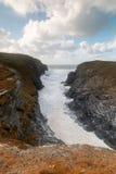 Entre Treyarlon et Porthcothan Image stock
