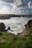 Entre Treyarlon et Porthcothan Photographie stock libre de droits