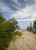 Entrée vers l'île de maïs de plage de pêches de sally Photographie stock libre de droits