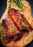 Entrecostos de porco do BBQ Imagem de Stock
