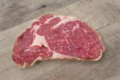 Entrecote,牛排,生肉关闭 免版税库存图片
