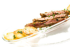 Entrecote with chips Royalty Free Stock Photography
