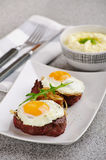 Entrecote with a fried egg Royalty Free Stock Image
