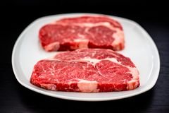 Entrecote steaks Royalty Free Stock Images