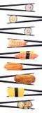 Entrecroisement de sushi Photo libre de droits