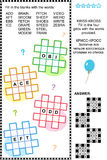 Entrecroisez (kriss-kross, ou d'appoint) le puzzle de mot Photo stock