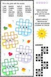 Entrecroisez (kriss-kross, ou d'appoint) le puzzle de mot Image stock