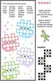 Entrecroisez (kriss-kross, ou d'appoint) le puzzle de mot Image libre de droits
