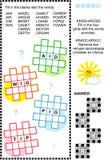 Entrecroisez (kriss-kross, ou d'appoint) le puzzle de mot Photo libre de droits