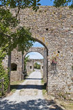 Entree with arches bridge of fortified castle Stock Photo