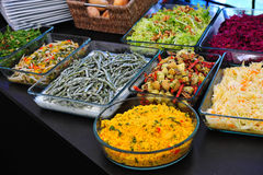 Entree buffet. Catering entree buffet at a garden party stock images