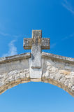 Entree cemetery. Old French arch entree cemetery Royalty Free Stock Photos