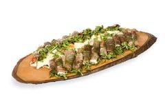 Entree dish. Vegetable and ham - entree dish Royalty Free Stock Photos