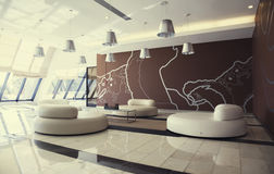 Entree hall in modern hotel Royalty Free Stock Image