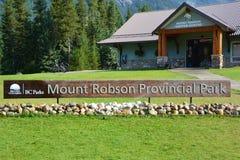 Entree Mount Robson. Jasper national park Stock Photos