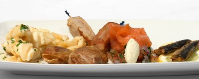 Entree Tasting Plate Royalty Free Stock Photography