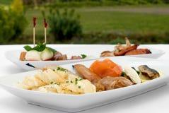 Entree Tasting Plates Royalty Free Stock Photo