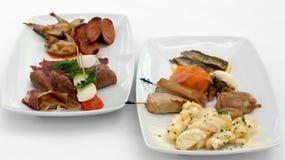 Entree Tasting Plates Stock Image