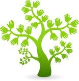 Entrega a árvore ilustração royalty free