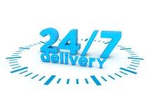 entrega 24h7 Imagem de Stock